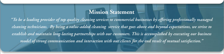 Commercial cleaning services mission statement